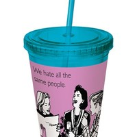 DC Comics 'We Hate All the Same People' Someecards Plastic Cup with Straw