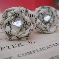 Ch5  Vintage Paper Earrings  Discover the by VintageOoakDesigns