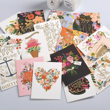 16 color style Business CARDS Birthday card Thanksgiving card paper Pearl envelope Valentine's day message card Pattern is clea