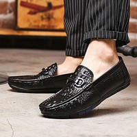 Genuine Leather Casual Men Fashion Loafers Shoes