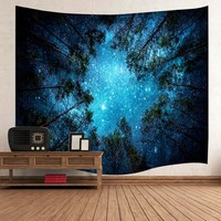 Jungle Starry Sky Wall Tapestry Indian Mandala Tapestry Wall Hanging Tapestries Beach Towel Yoga Mat Sofa Blanket tapisserie -OF