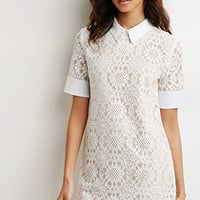 Collared Lace Shift Dress