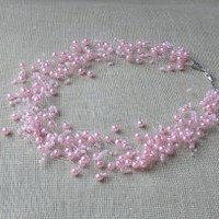 Pink Necklace. Wedding Necklace