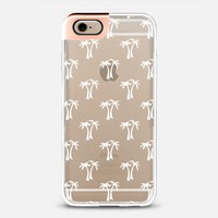 White Tropical Palm Trees Pattern Transparent iPhone 6 case by Organic Saturation | Casetify