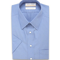Gold Label Roundtree & Yorke Short-Sleeve Point-Collar Dress Shirt - B