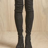 Indie Designs Suede Leather Skinny Fit Creeper Boots