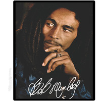 Bob Marley - Signature Fleece Blanket on Sale for $29.95 at The Hippie Shop