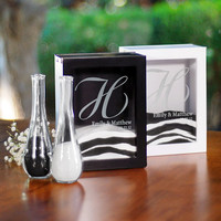 Unity Sand Ceremony Shadow Box Set Black or White Wedding Unity (e101-2805/2806) - Free Personalization