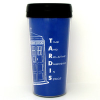 Doctor Who TARDIS Coffee or Tea Travel Mug by by kitschville