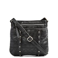 Perforated Cross Body Purse