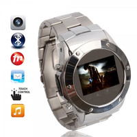 Quad Band Touch Screen Wrist Watch Phone with FM Bluetooth Camera