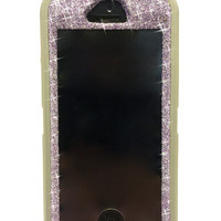 iPhone 5/5s Otterbox Case Glitter Cute Sparkly Bling Defender Series Custom Case Purple Sapphire / Grey