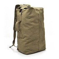 Multi-purpose Military Canvas Backpack Solid Color Men Weekend Sports Travel Duffle Bags Outdoor Tactical Rucksack