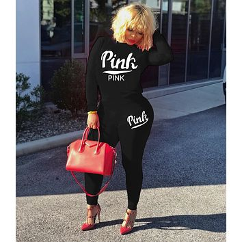"""Stylish """" PINK"""" Two Pieces TOP Pants Sportswears"""