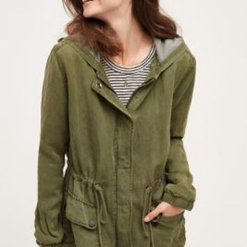 Sanctuary Arlette Hooded Anorak in Moss Size: