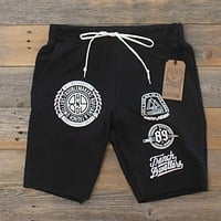 Visionaries Terry Cut Off Shorts Black