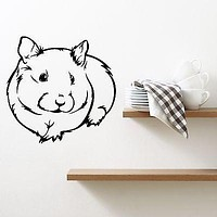 Wall Decal Guinea Pig Pet Hamster Rodent Mouse Rat Small Vinyl Stickers Unique Gift (ed262)