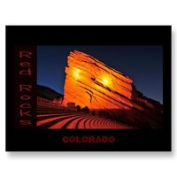 red rocks, COLORADO Post Cards from Zazzle.com