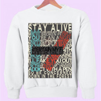 Twenty One Pilots Album Lyrics Crewneck