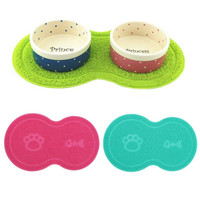 New Colorful Pet Dog Puppy Cat Feeding Mat Pad Cute PVC Bed Dish Bowl Food Water Feed Placemat Wipe Clean Pet Supplies