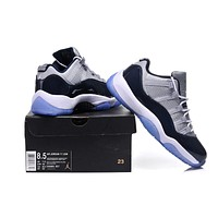 Air Jordan 11 grey/black Basketball Shoes 36-47