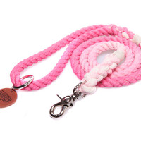 Petal Pink Ombré Rope Dog Leash