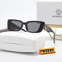 Versace new men's and women's sunglasses with mirror LOGO glasses