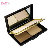 Brand Makeup Face Contour Powder 3 Colors Pressed Powder with Mirror Puff Studio Fix Finishing Powder Make Up