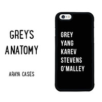 Greys Anatomy Phone Case iPhone 4s 5 5s 5c SE 6s 6 plus Samsung Galaxy S4 S5 S6 edge S7 Note Sony Z3 Z4 HTC M8 M9 Huawei P8 Lite Mate 8