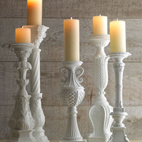 White Candleholders - Horchow