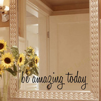 Inspirational Mirror Wall Decal DIY Motivational Wall Sticker Home Bathroom Decor