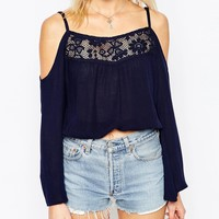 Influence Off Shoulder Cheese Cloth Gypsy Top