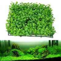 25cmx25cm Aquarium Decorative Green Plastic Plant Grass Fish Tank Landscape Decoration