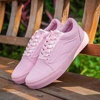 Vans Old Skool Pink 50th Anniversary Commemorative Section Sneakers Casual Shoes