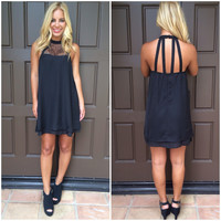 On Your Mind Lace Detailed Dress - Black