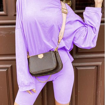 New style hot sale women's two-piece suit with belt long sleeve loose sports fashion casual suit