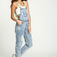 LIME FESTIVAL EMBROIDERED OVERALLS