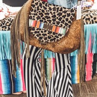 Trudy Leopard/Serape large purse