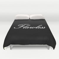 Flawless Black & White Duvet Cover by 2sweet4words Designs | Society6