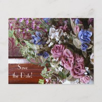 Save the Date 65th Birthday Party Floral Postcard
