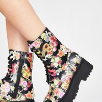 California Poppy Combat Boots