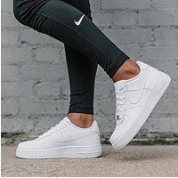 White Nike Air Force 1 Fashion Women Men Casual Old Skool Low-Top Shoes