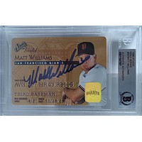 Matt Williams Autographed San Francisco Giants 1995 Donruss Studio Gold Baseball Card BAS Slabbed