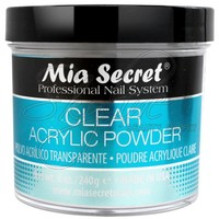 MIA SECRET - ACRYLIC POWDER - CLEAR 8 OZ - Mia Secret - Acrylic Powder - Nail Enhancements