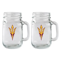 Arizona State Sun Devils 2-Piece Mason Jar Set (Asu Team)