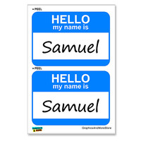 Samuel Hello My Name Is - Sheet of 2 Stickers
