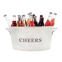 Country Home: Galvanized Cheers Tub