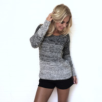 Early Morning Ombré Knit Sweater In Black