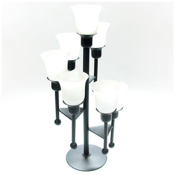 Spiral Seven-Candle Lamp