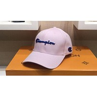 Champion 2018 new classic embroidery logo wild casual baseball cap Pink